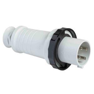 PratiKa gnezdni vtič - raven - 63 A - 3P + E - 480 do 500 V AC - IP67