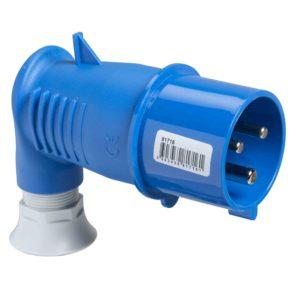 PratiKa gnezdni vtič - pod kotom 90° - 16 A - 2P + E - 200 do 250 V AC - IP44