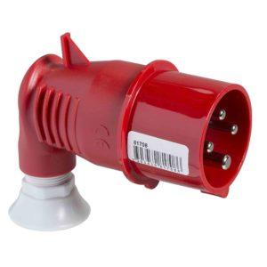 PratiKa gnezdni vtič - pod kotom 90° - 32 A - 3P + E - 380 do 415 V AC - IP44