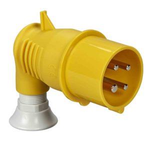 PratiKa gnezdni vtič - kotni - 16 A - 3P + E - 100 do 130 V AC - IP44