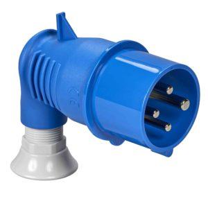 PratiKa gnezdni vtič - kotni - 16 A - 3P + E - 200 do 250 V AC - IP44