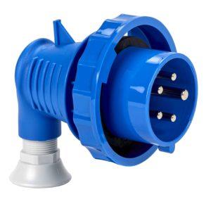 PratiKa gnezdni vtič - kotni - 16 A - 3P + N + E - 200 do 250 V AC - IP67