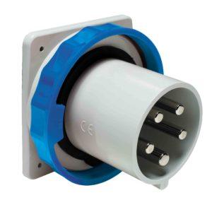 PratiKa vtič - raven - 63 A - 3P + N + E - 200 do 250 V AC - IP67 - plošča
