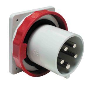 PratiKa vtič - raven - 63 A - 3P + N + E - 380 do 415 V AC - IP67 - plošča
