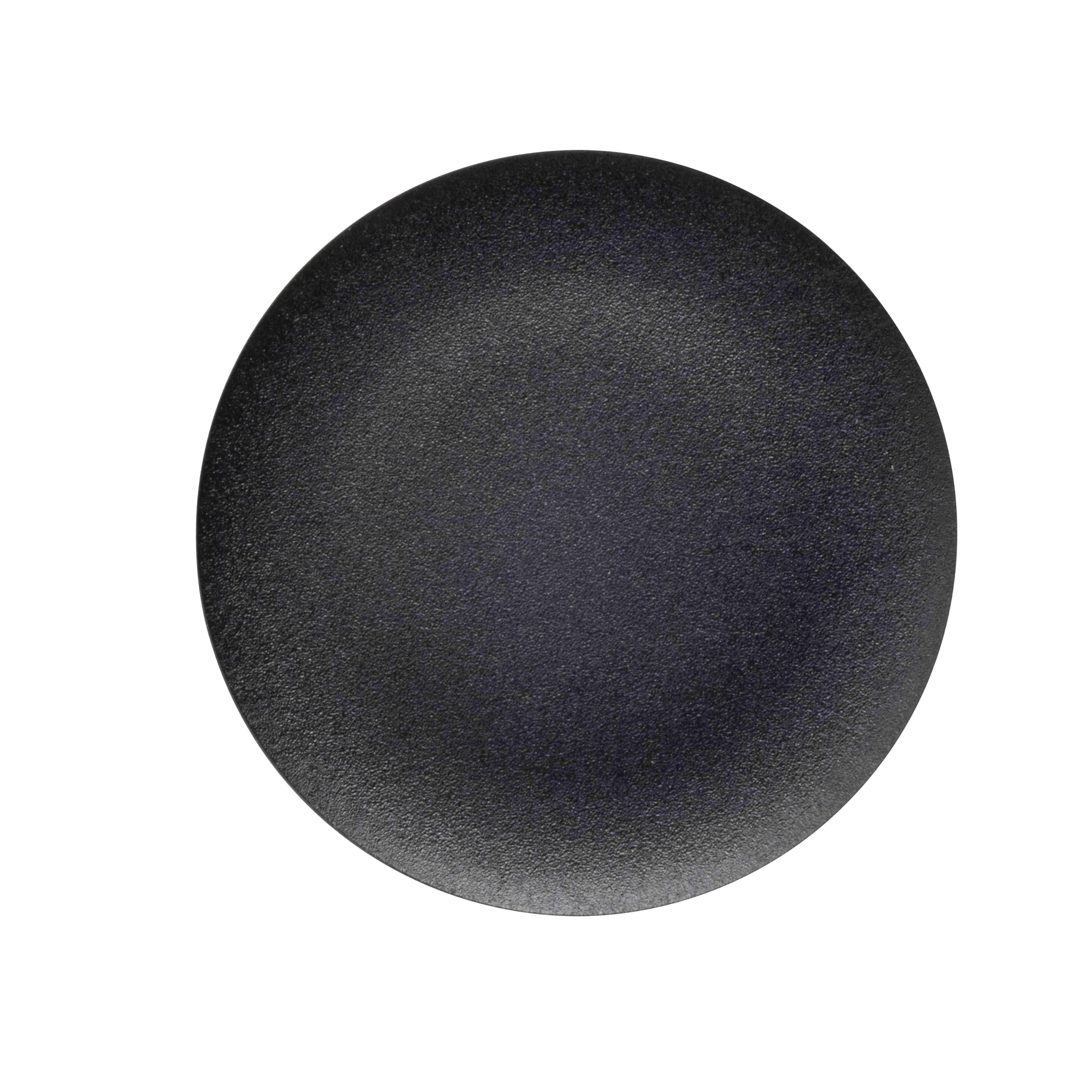 Neoznačen črn pokrov za krožno podometno tipko Ø 22