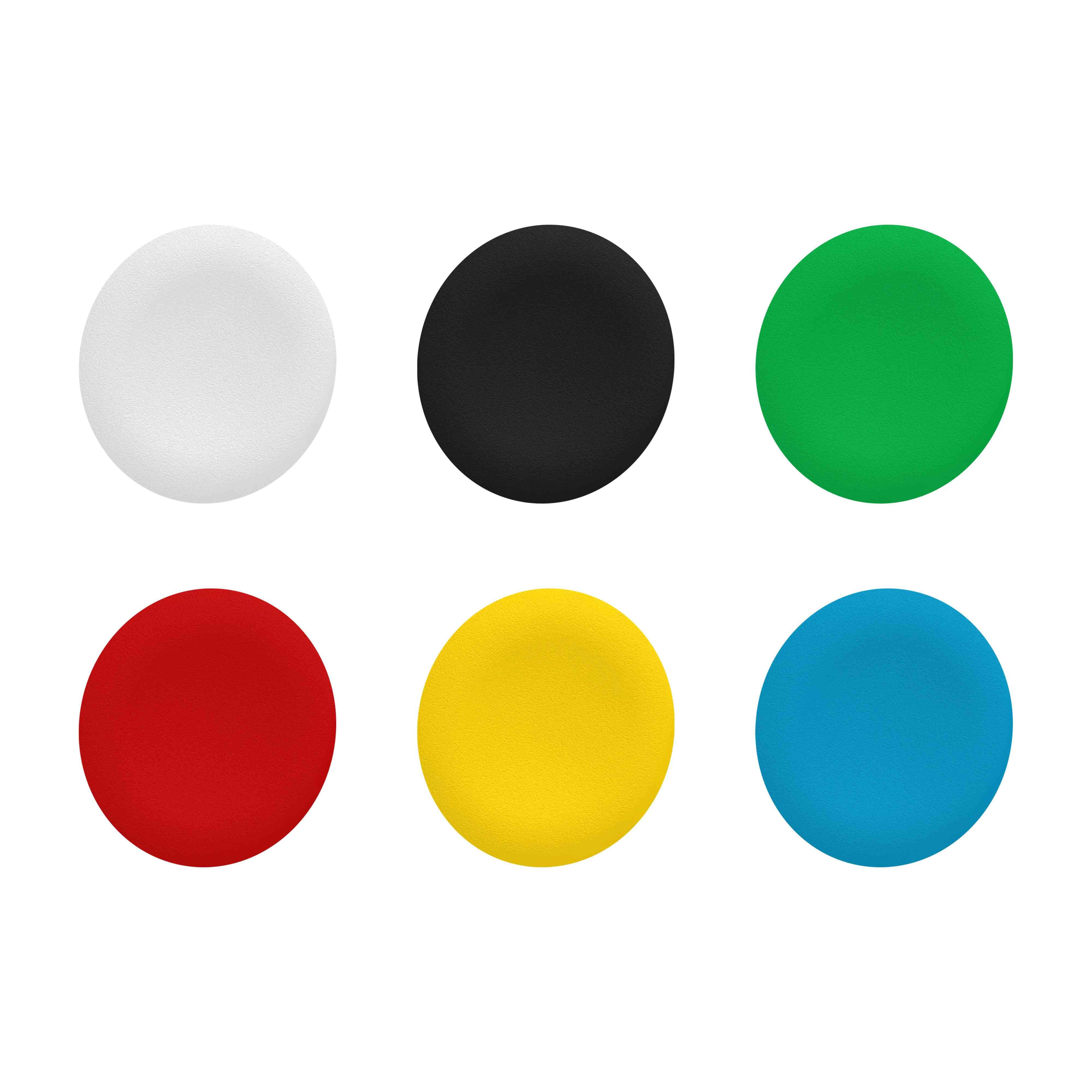 Neoznačen pokrov za krožno podometno tipko Ø 22 s 6 barvnimi izbirami