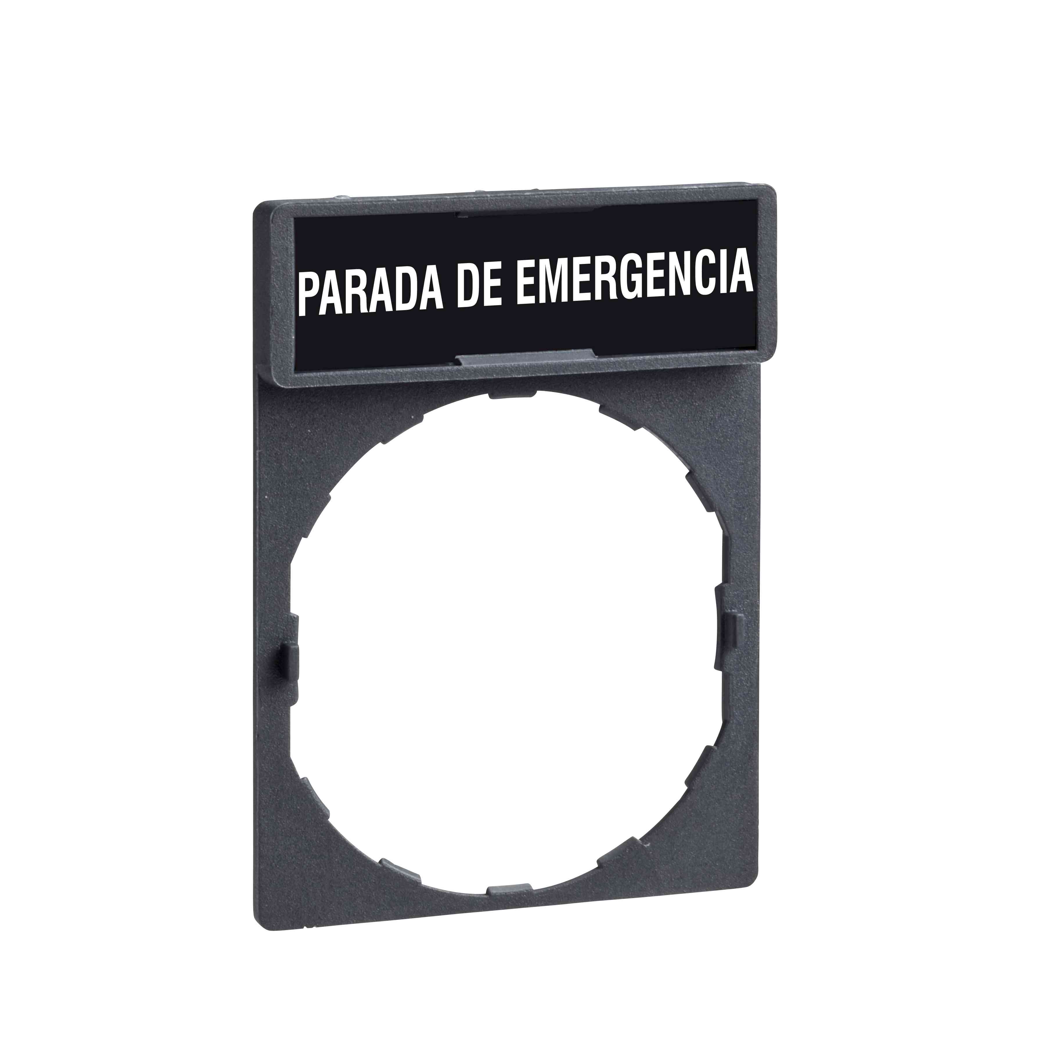 Nosilec legende 30 x 40 mm z legendo 8 x 27 mm z oznako PARADA DE EMERGENCIA