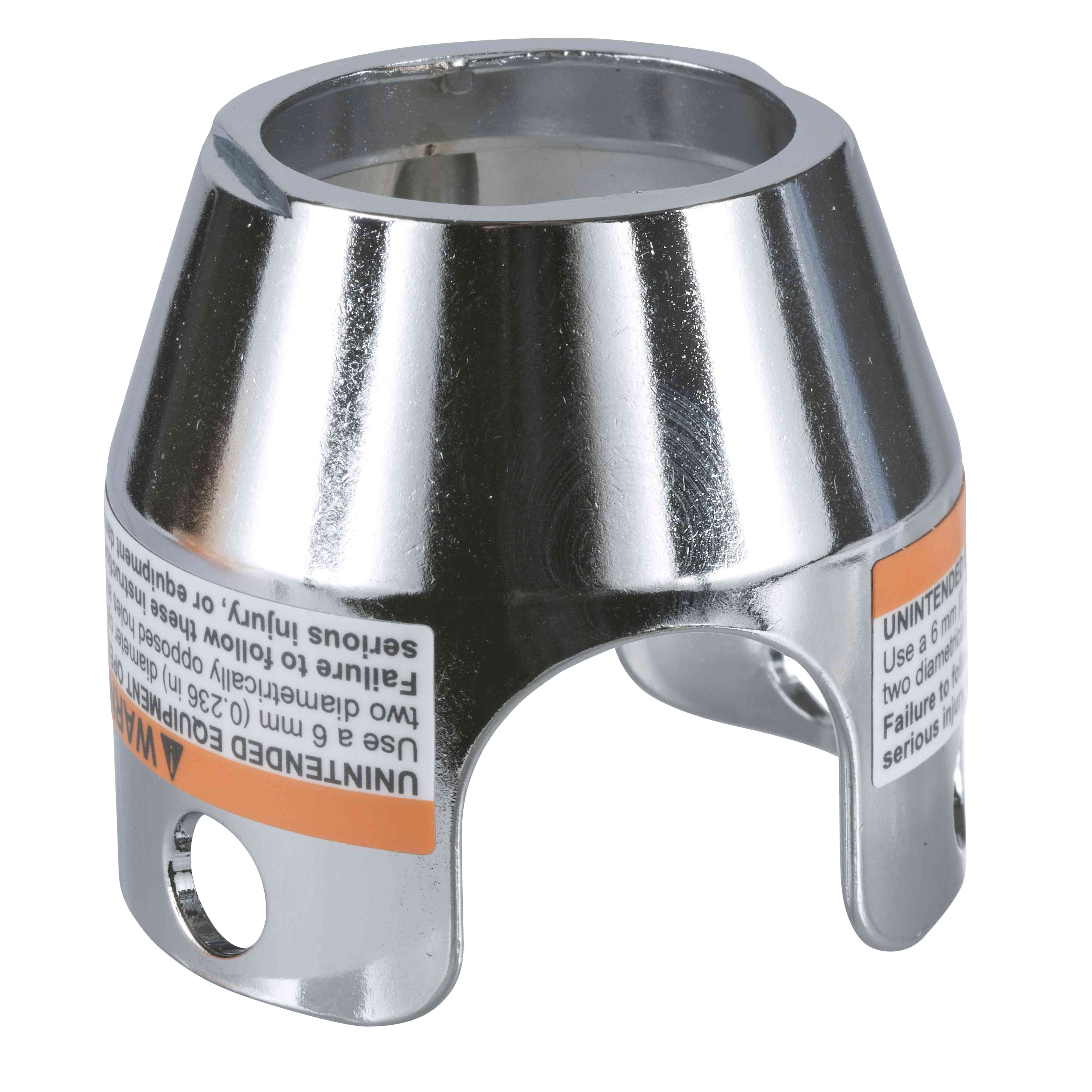 Kromiran kovinski ščitnik z možnostjo zaklepa za gobasto tipko Ø 40