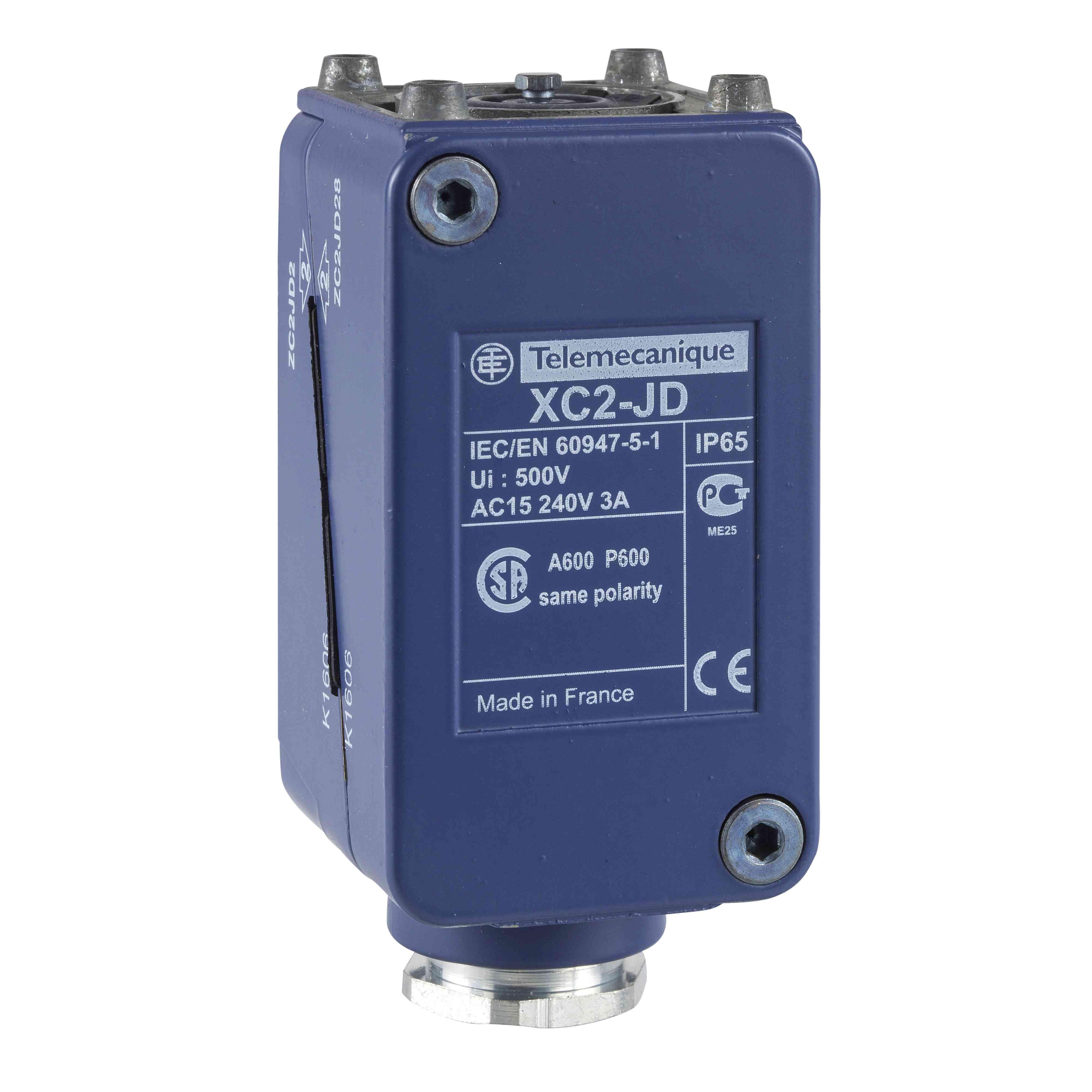 Ohišje omejitvenega stikala ZC2J - vtičnik - brez zaslona - 2 C/O