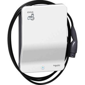 EVlink Wallbox – 3,7 kW – pritrjen kabel T2 – polnilna postaja