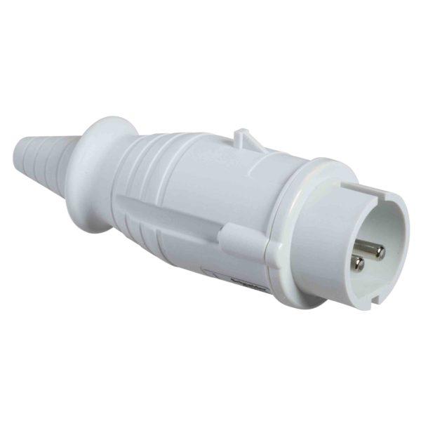 PratiKa gnezdni vtič - raven - 16 A - 2P - 40 do 50 V AC - IP44