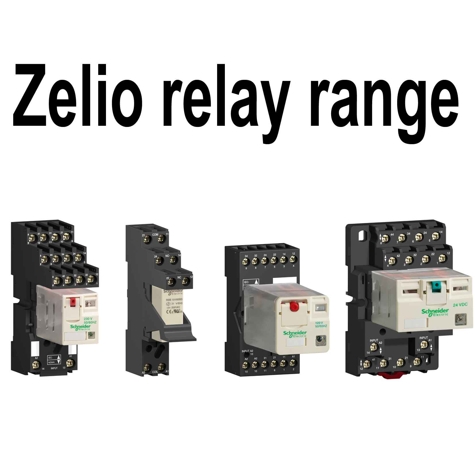 socket RXZ -mixed contact - 7 A - 250 V - screw clamp - for relay RXM2.., RXM4..