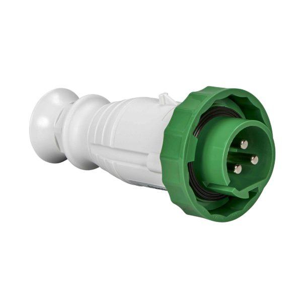 PratiKa gnezdni vtič - raven - 16 A - 3P - 20 do 25 V AC - IP67