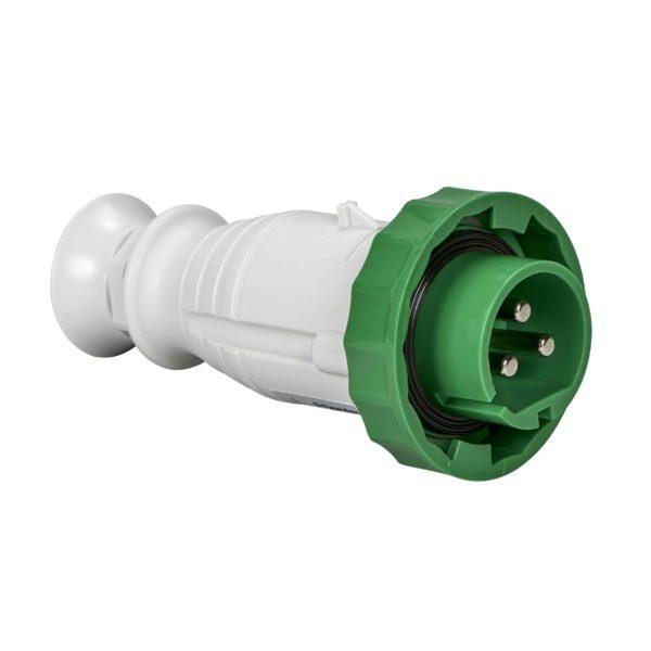 PratiKa gnezdni vtič - raven - 32 A - 3P - 20 do 25 V AC - IP67