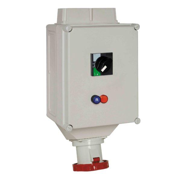 PratiKa vtičnica z zaklepanjem - 63 A - 3P + N + E - 380 do 415 V AC - IP65