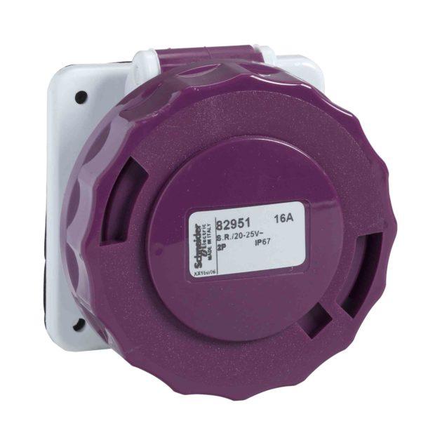 PratiKa industrijska vtičnica - 32 A - 2P - 20 do 25 V AC - IP67