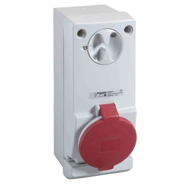 Unika vtičn. z zakl. - 32 A - 3P + N + E - 380 do 415 V AC - IP44 - stena