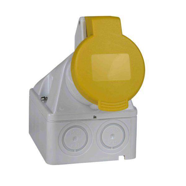 PratiKa industrijska vtičnica - 32 A - 3P + E - 100 do 130 V AC - IP44
