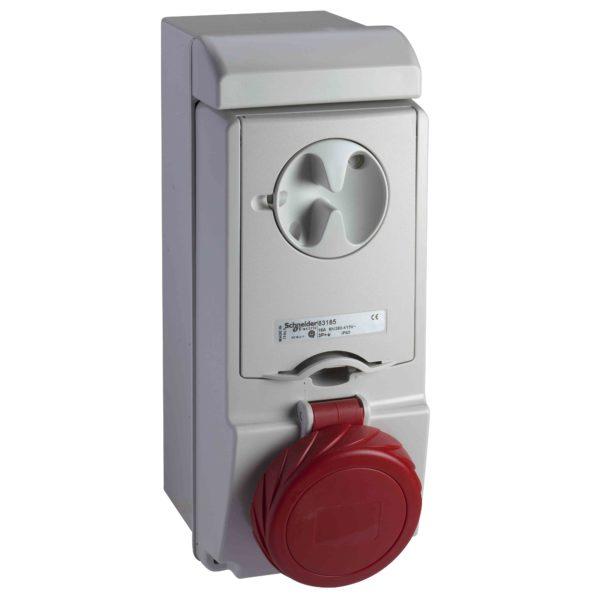 Unika vtičn. z zakl. - 16 A - 3P + N + E - 380 do 415 V AC - IP65 - stena