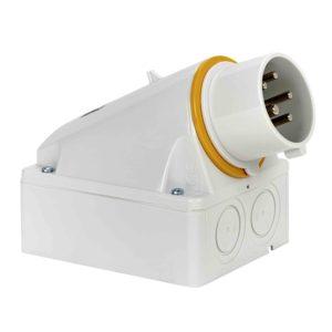 PratiKa industrijski vtič - 16 A - 3P + N + E - 100 do 130 V AC - IP44