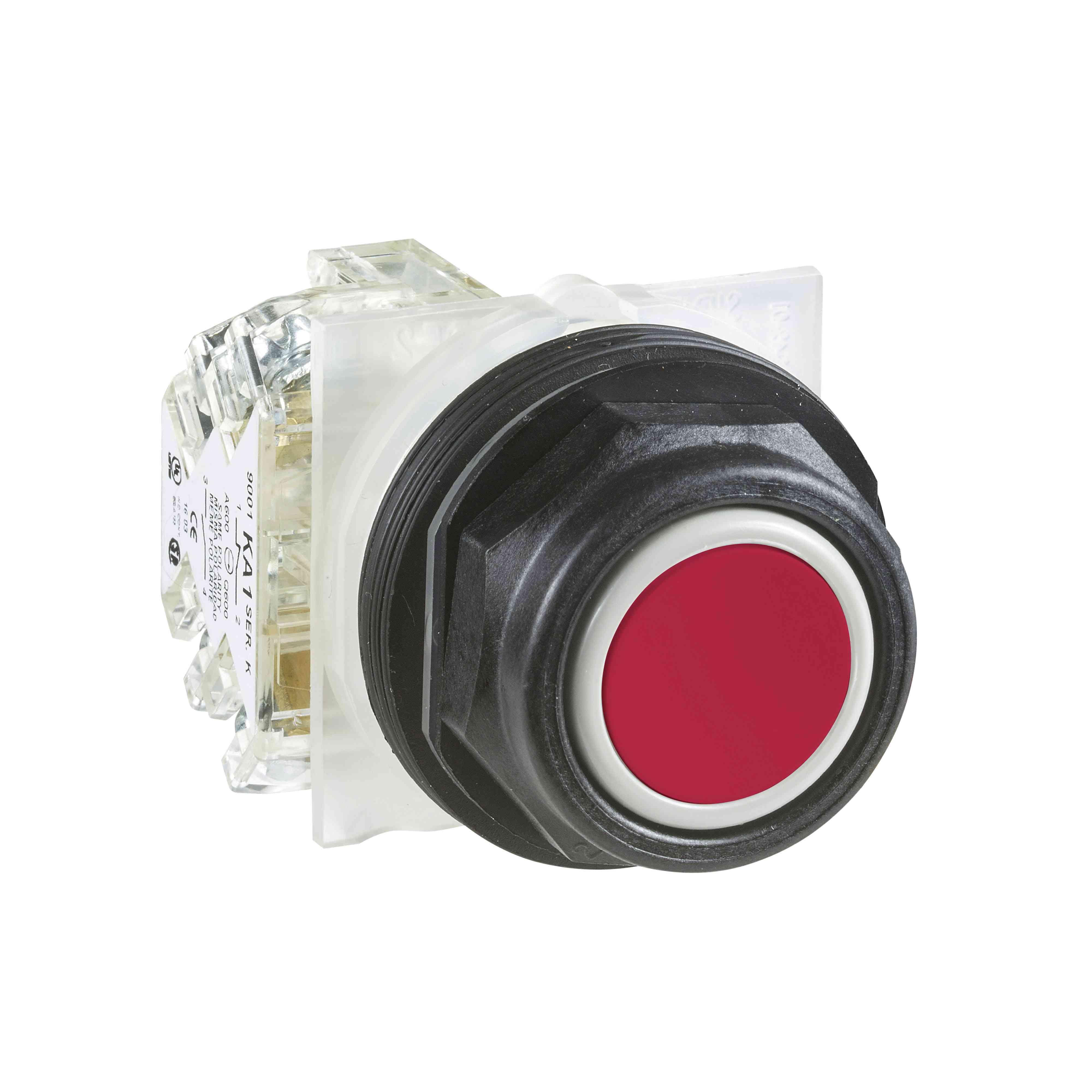 Tipka 600 V AC 10 AMP 30 mm sk + možnosti