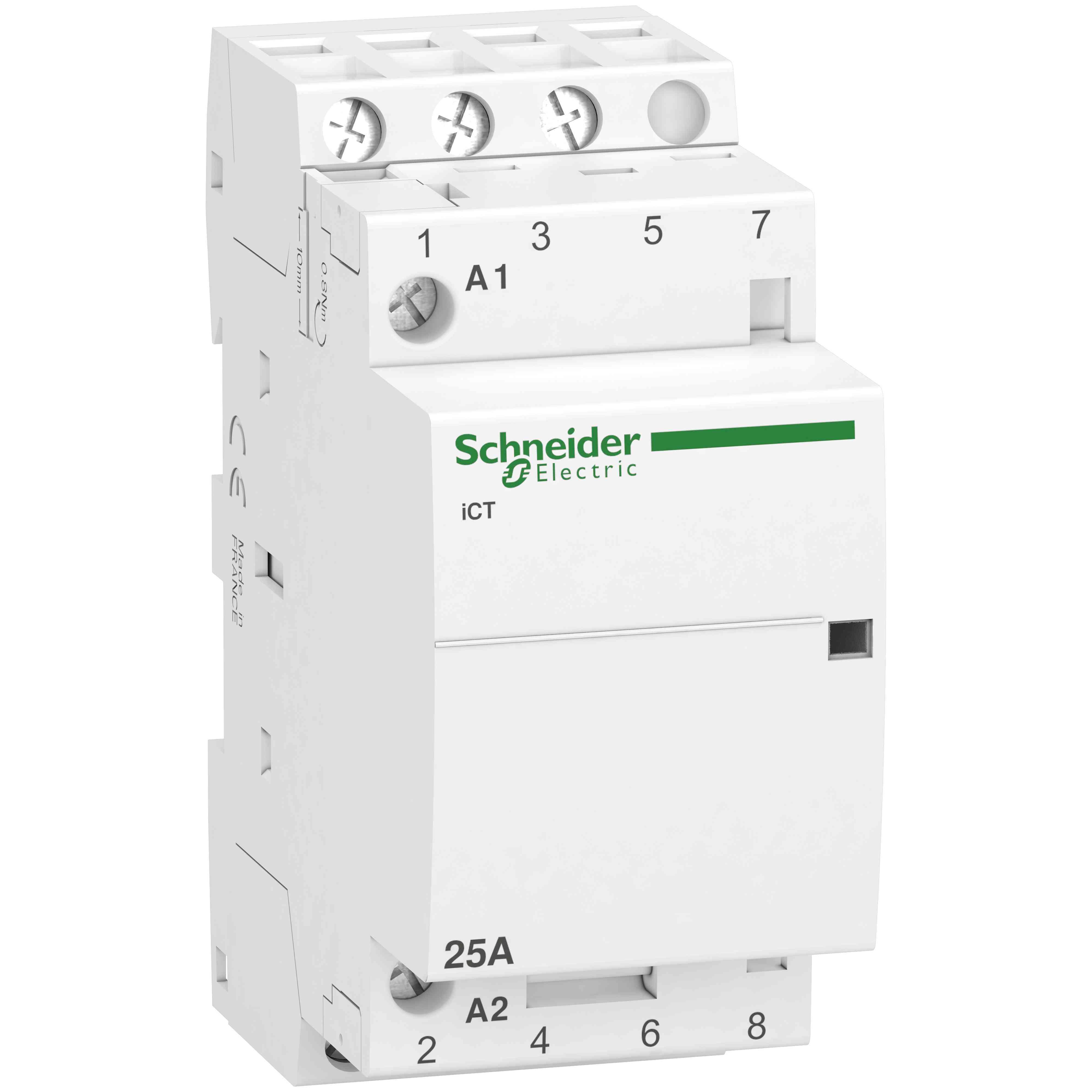 iCT kontaktor - 3 poli - 3 NO - 25 A - 220 do 240 V AC