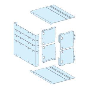 Pokrov priključka prenosnega sklopa v vodu oblike 4b za 3 do 5 modulov