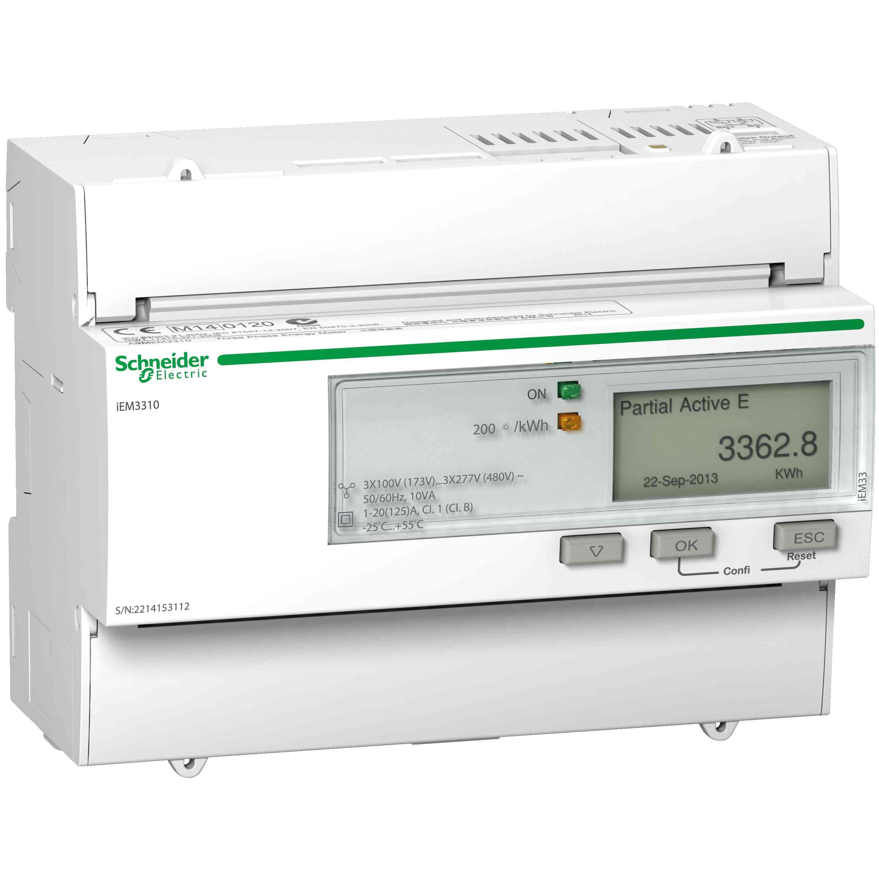Merilnik energije iEM3310 - 125 A - 1 pulzni O