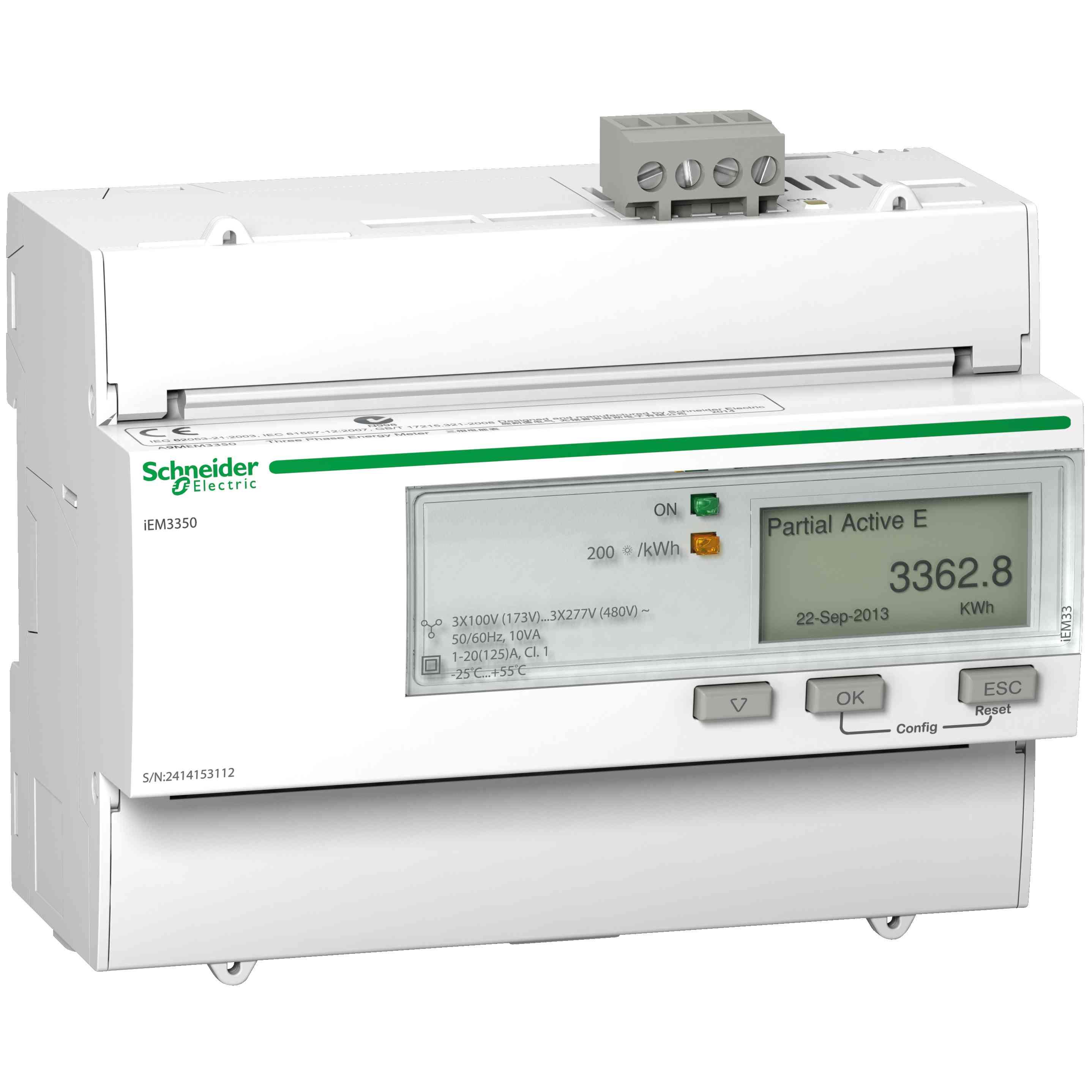 Merilnik energije iEM3350 - 125 A - Modbus
