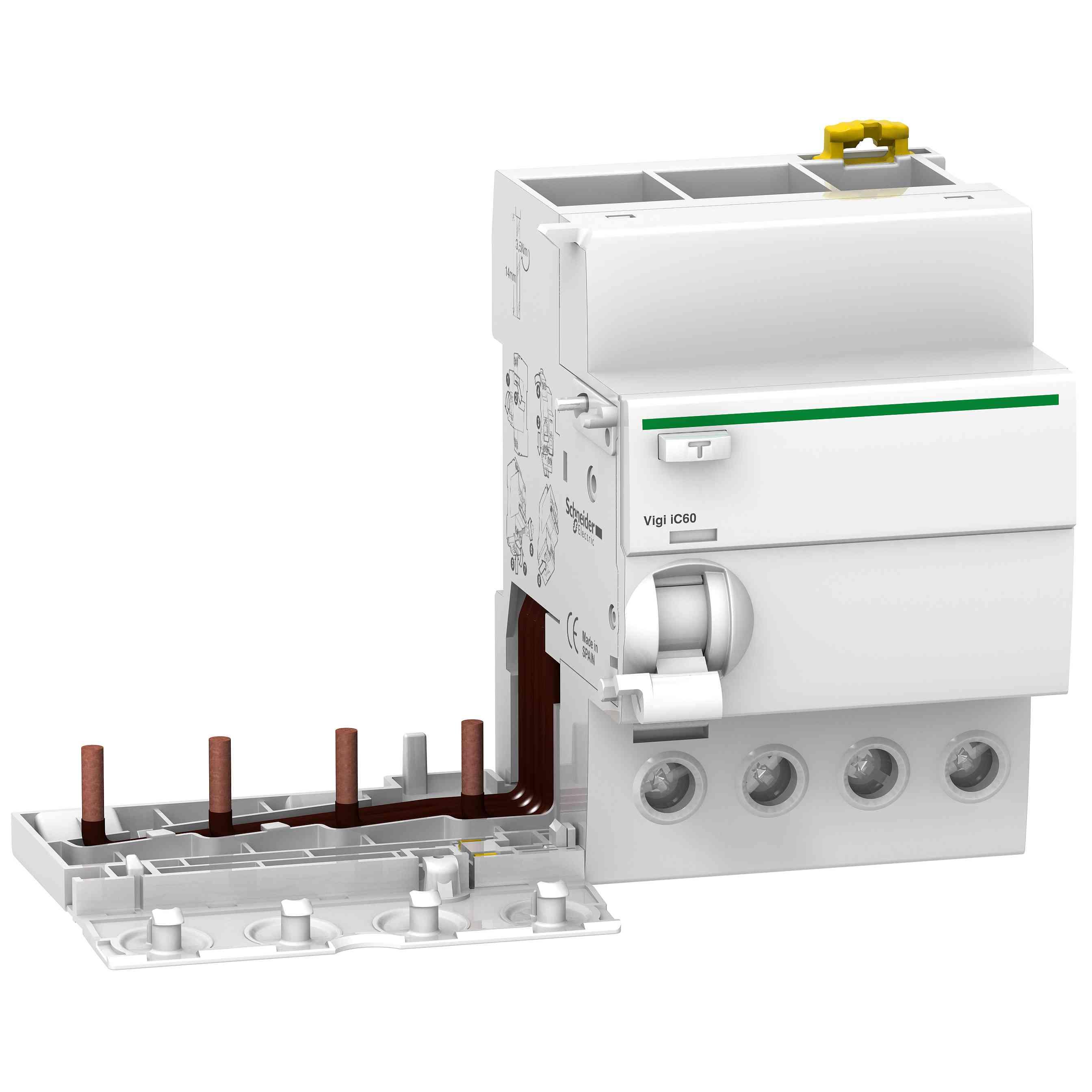 Vigi iC60 - ozemljitveni blok - 4P - 40 A - 300 mA - tip AC