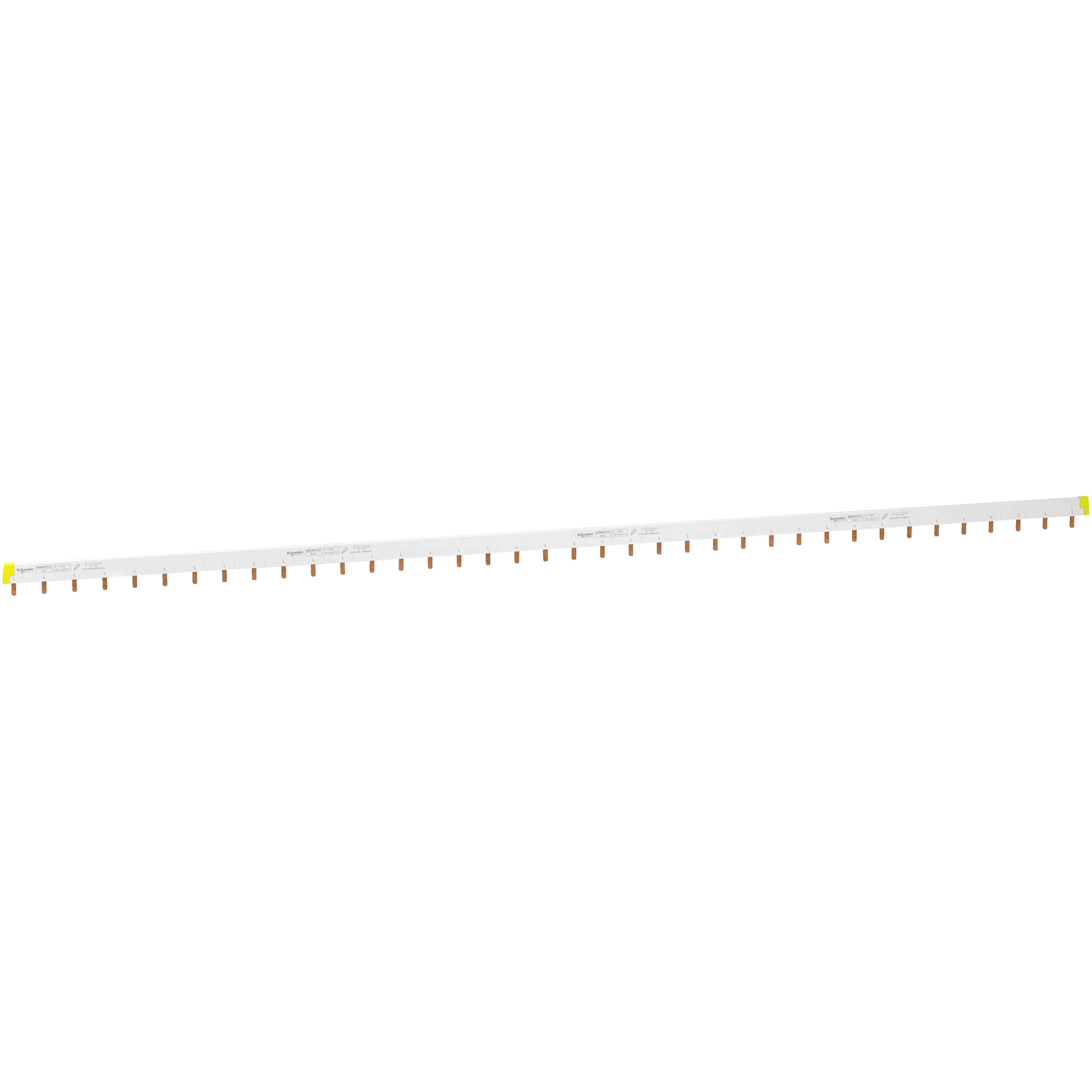 Acti 9 - glavničasta zbiralka - tip 1L + Aux - 18 mm raz. - 57 mod. - 100 A