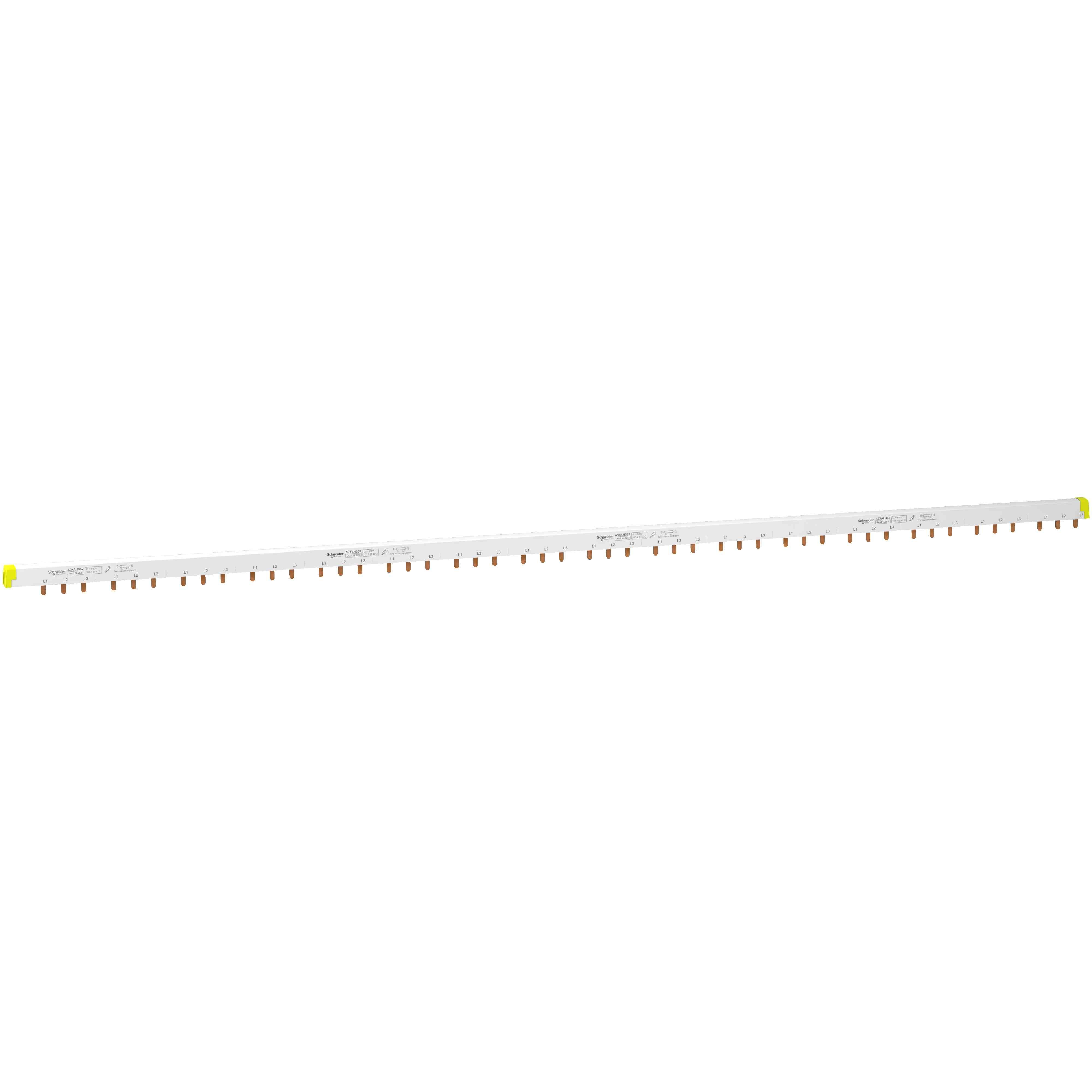 Acti 9 - glavničasta zbiralka  - tip 3L + Aux - 18-mm razmik - 57 mod. - 100 A