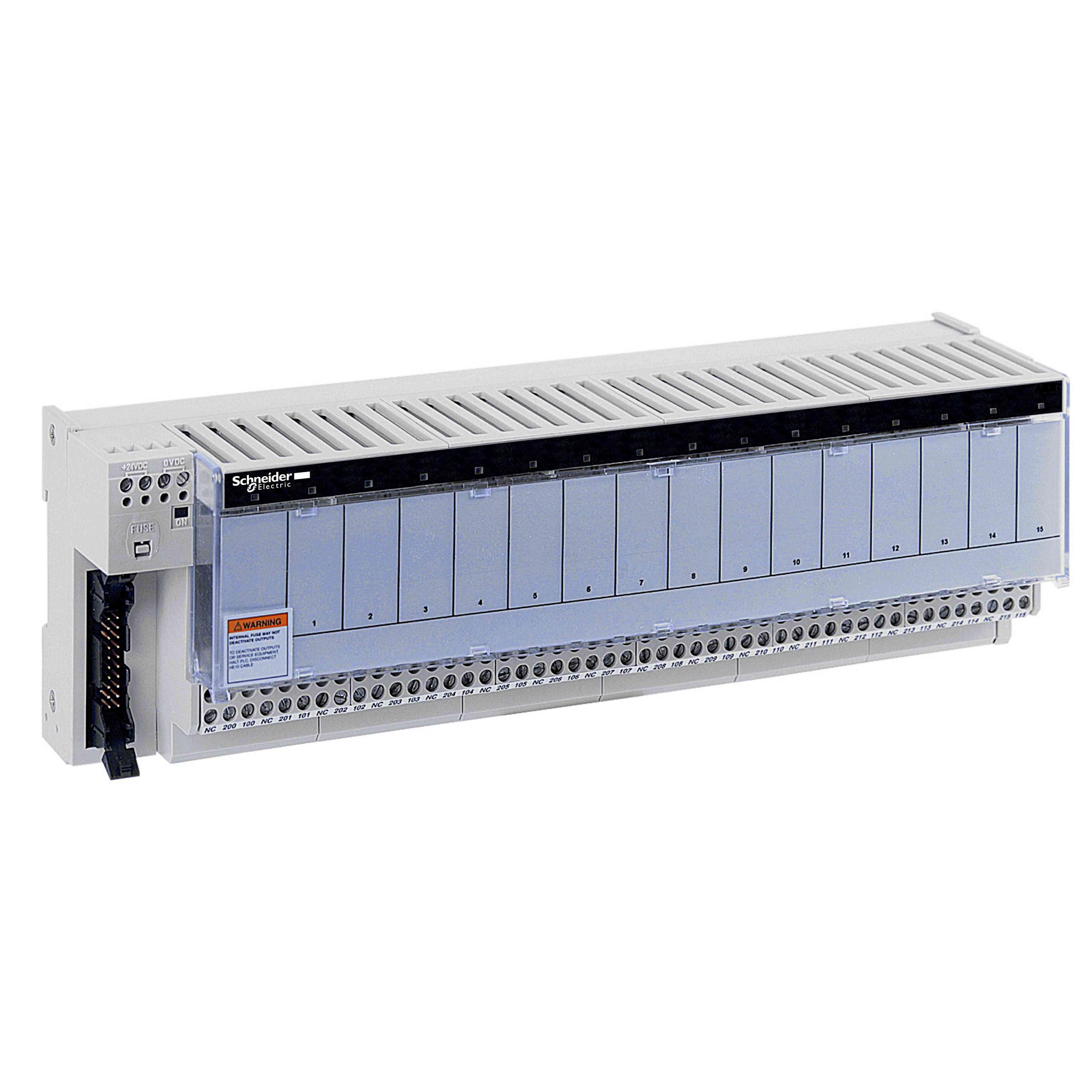 Pod-osnova - vtični elektromehanski releji ABE7 - 16 kanalov - rele 10 mm