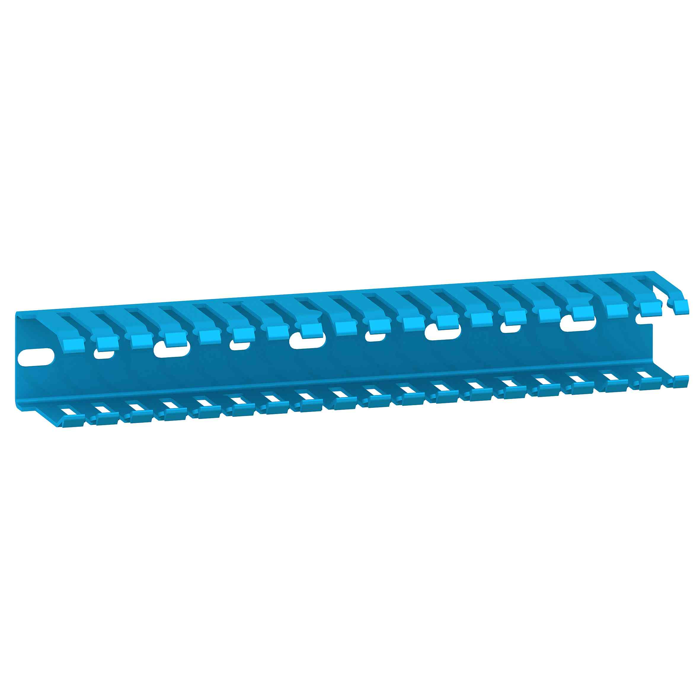 Kabelski kanal - 35 x 30 mm - brez pokrova - moder