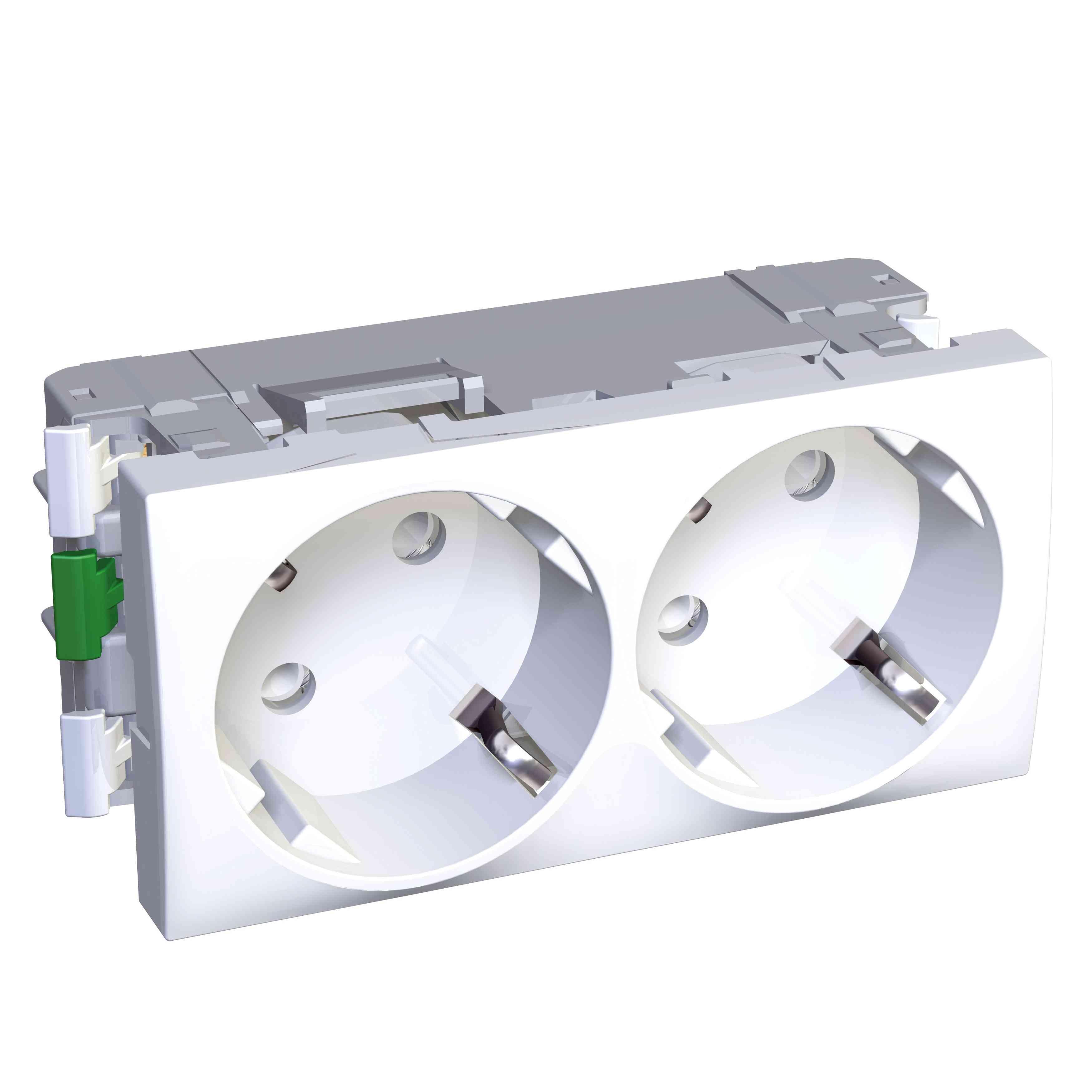 Altira - 2 SO - 2P + E z zaščito - ozemljitev - polarno bel