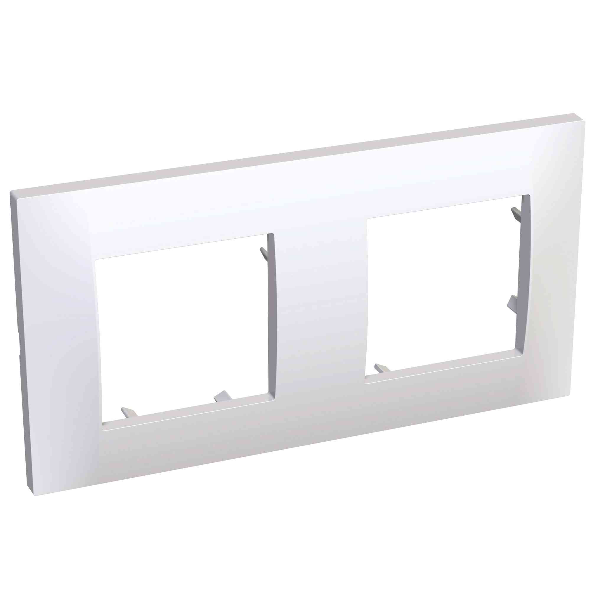Altira - dekorativni okvir - 2 vodoravni odprtini - polarno bel - 71 mm