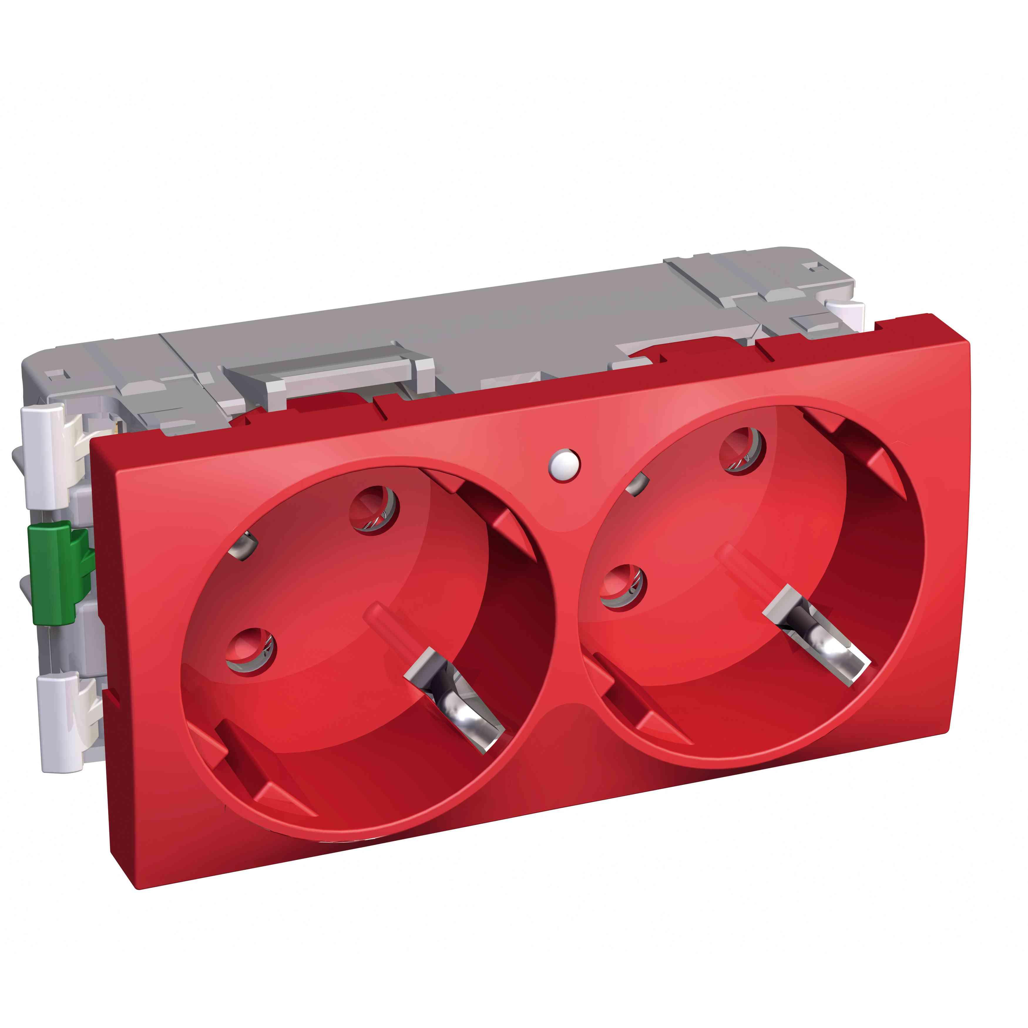 Altira - 2 SO - 2P + E z zaščito - ozemljitev - luč - rdeča