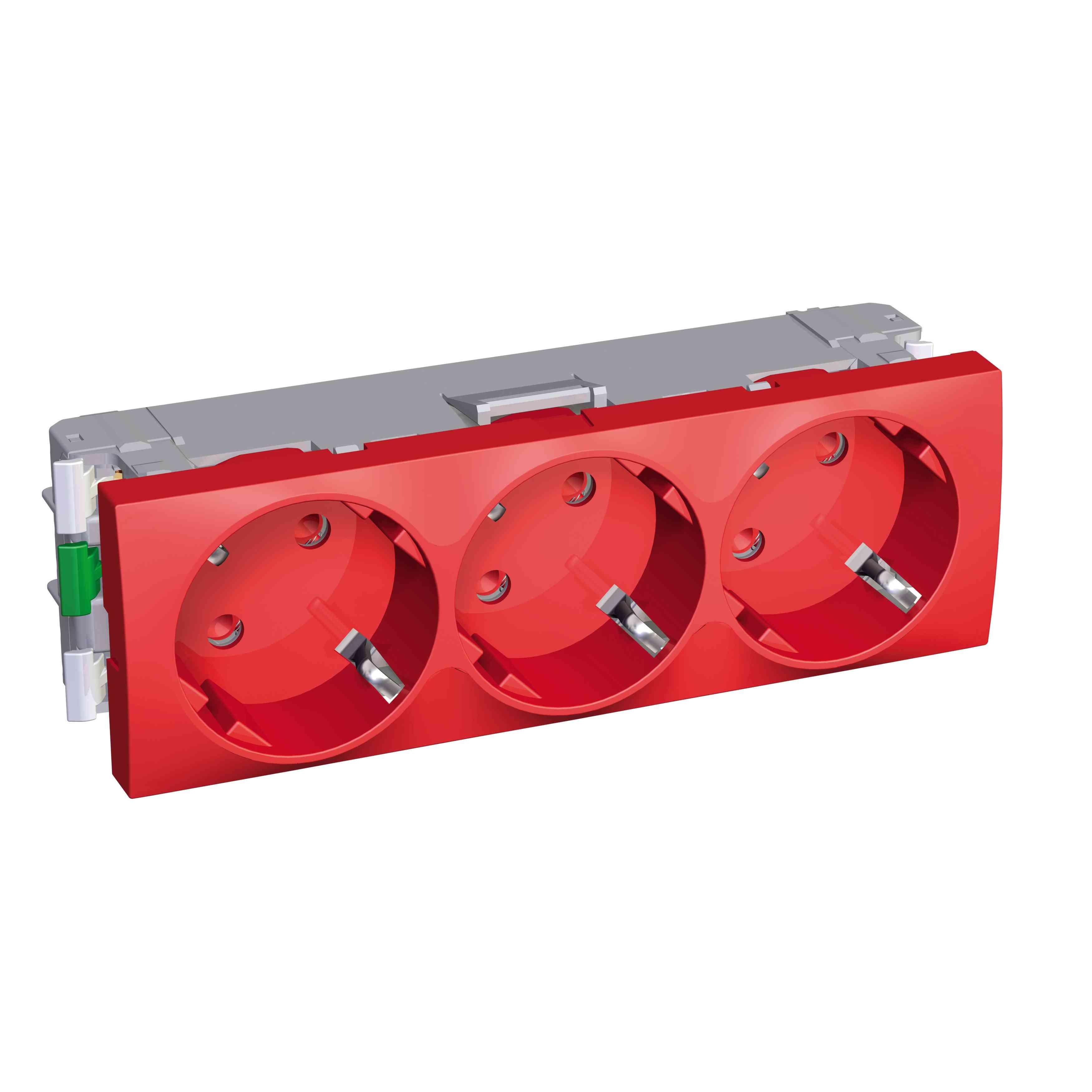 Altira - 3 SO - 2P + E z zaščito - ozemljitev - rdeč