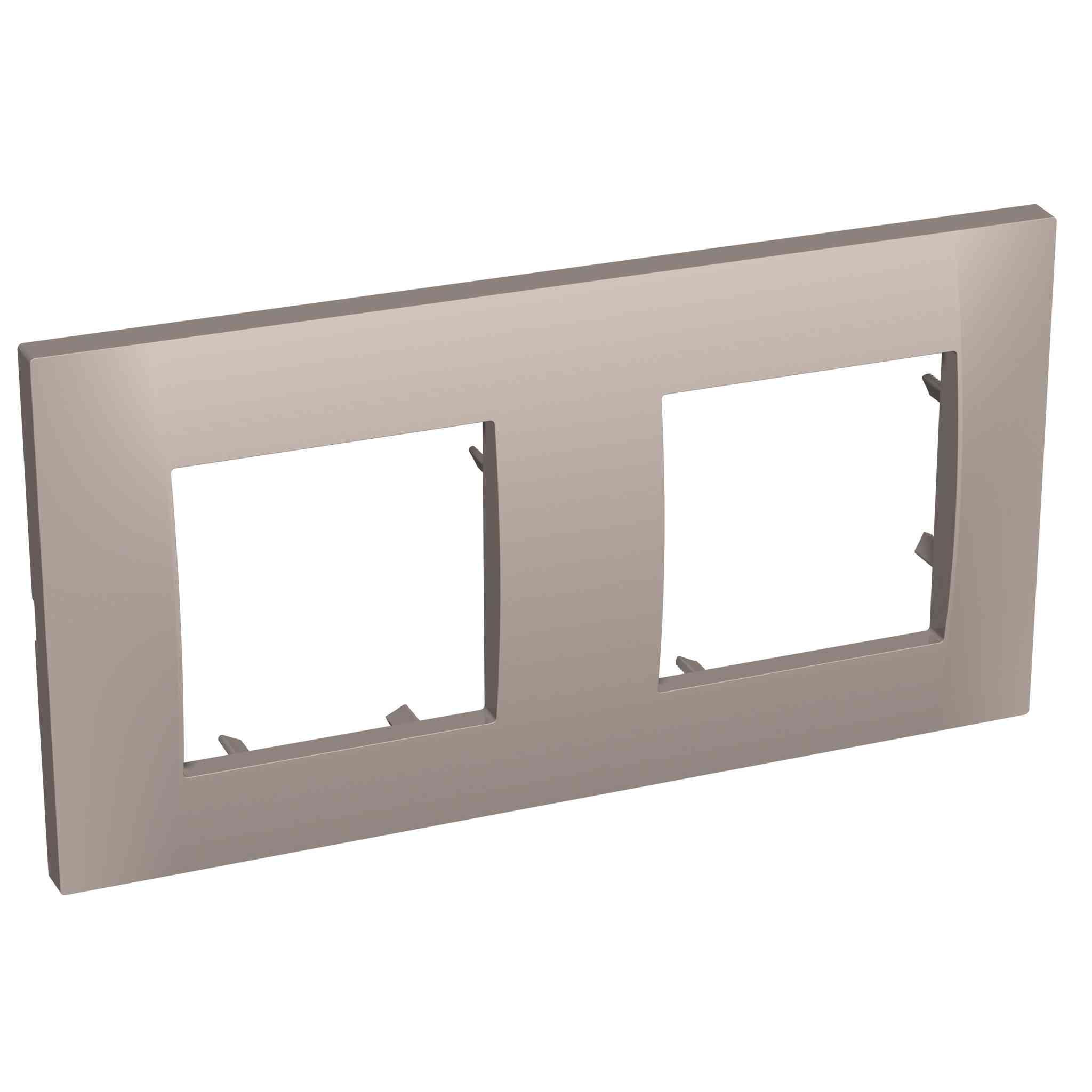 Altira - dekorativni okvir - 2 odprtini vodoravno - granit - 71 mm
