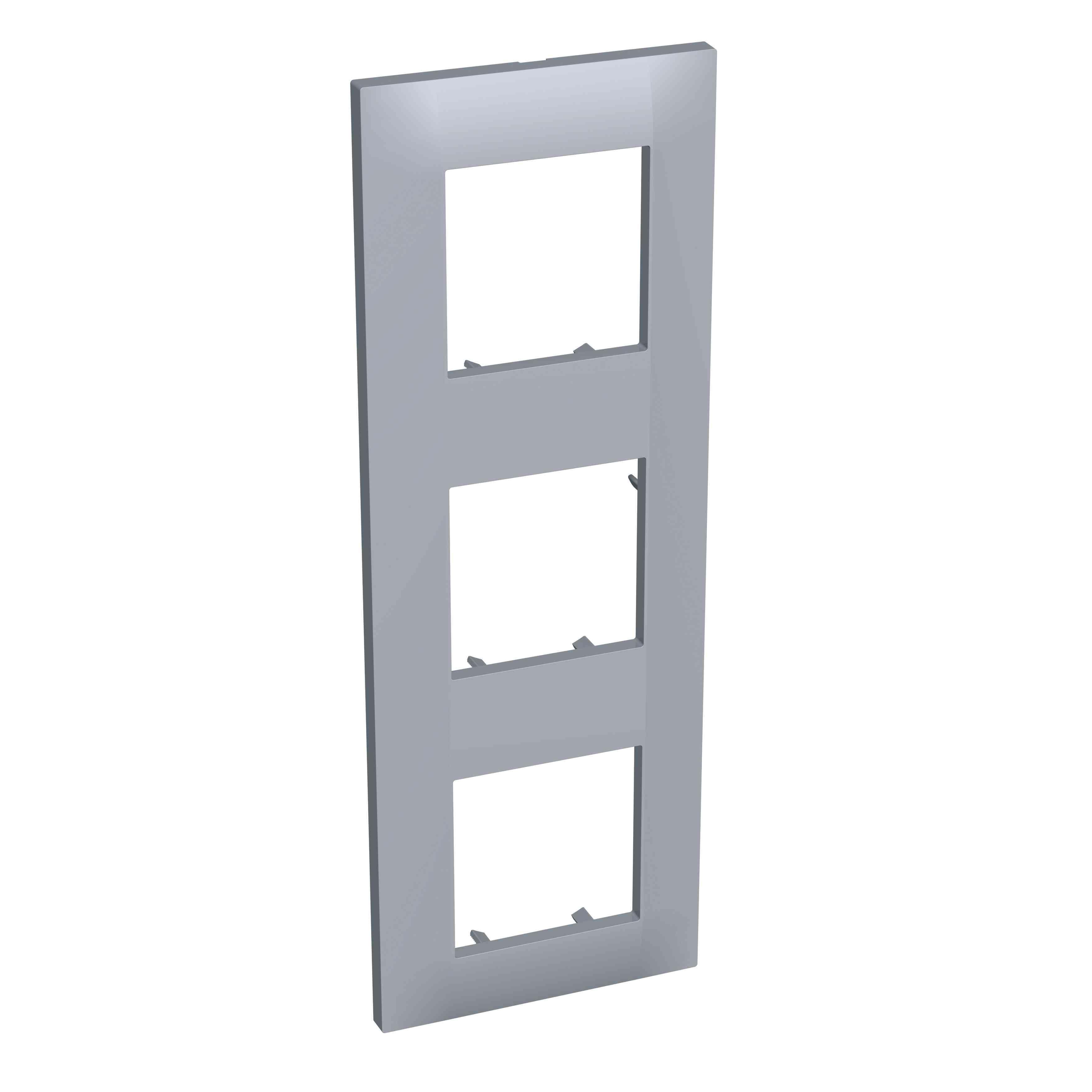 Altira - dekorativni okvir - 3 odprtine navpično - megleno siv - 71 mm