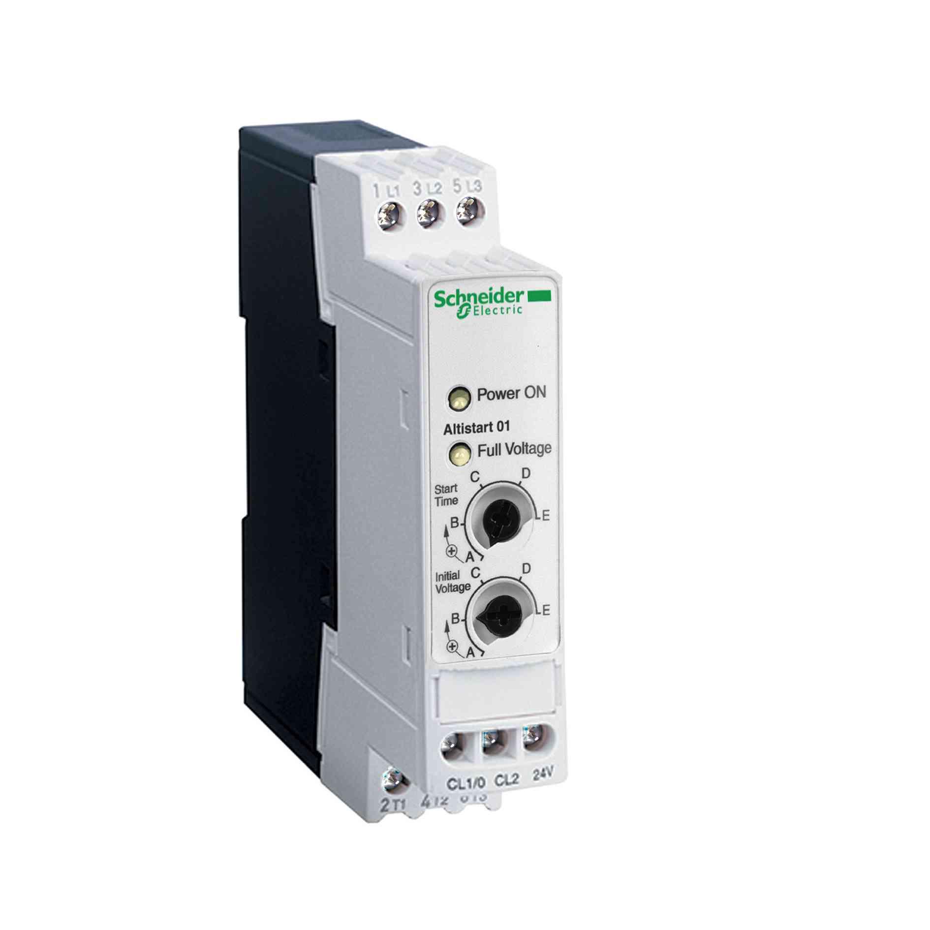 Mehki zaganjalnik za asinhroni motor - ATS01 - 6 A - 110 do 480 V - 0,75 do 3 KW