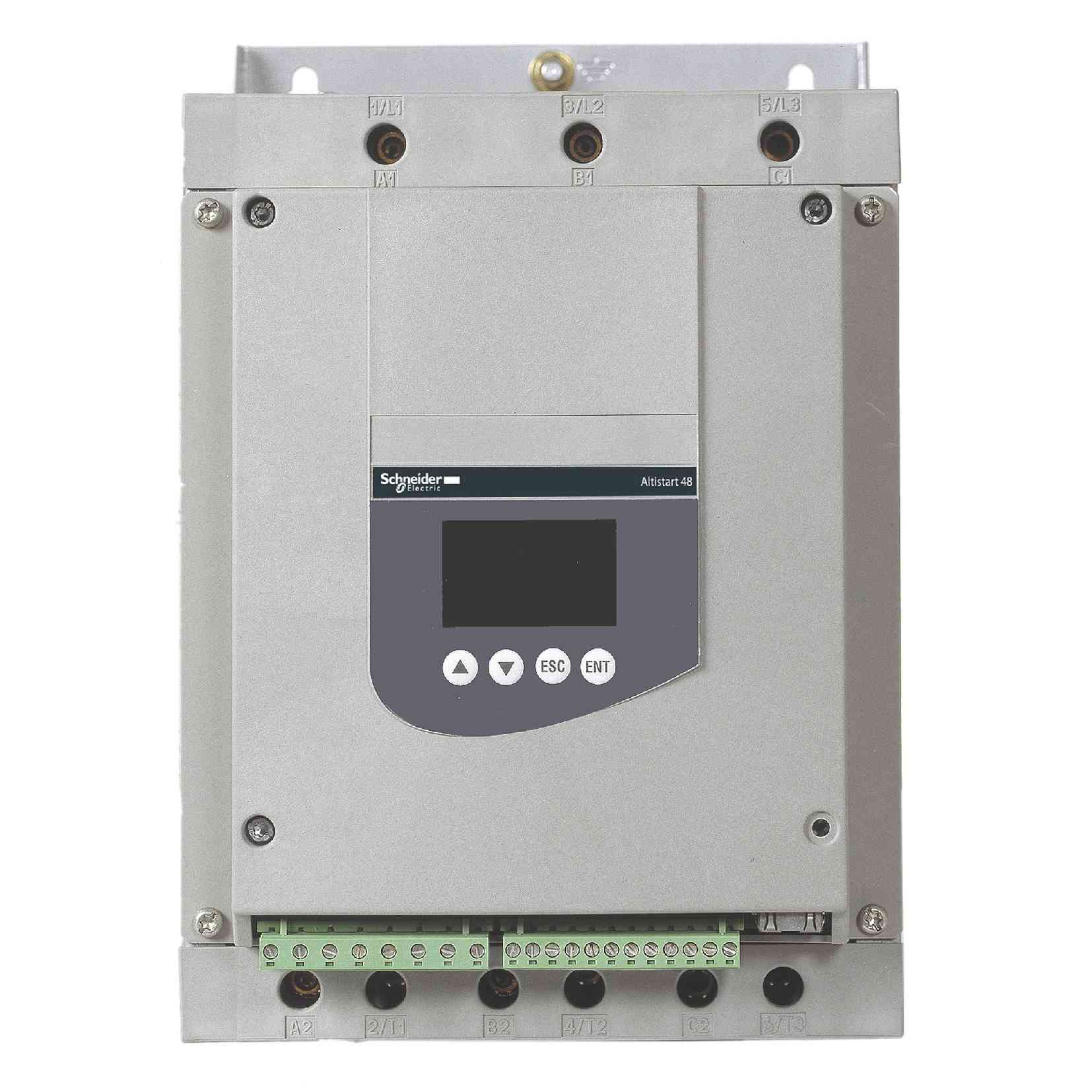 Mehki zaganjalnik za asinhroni motor - ATS48 - 69 A - 230 do 415 V - 15 do 55 kW