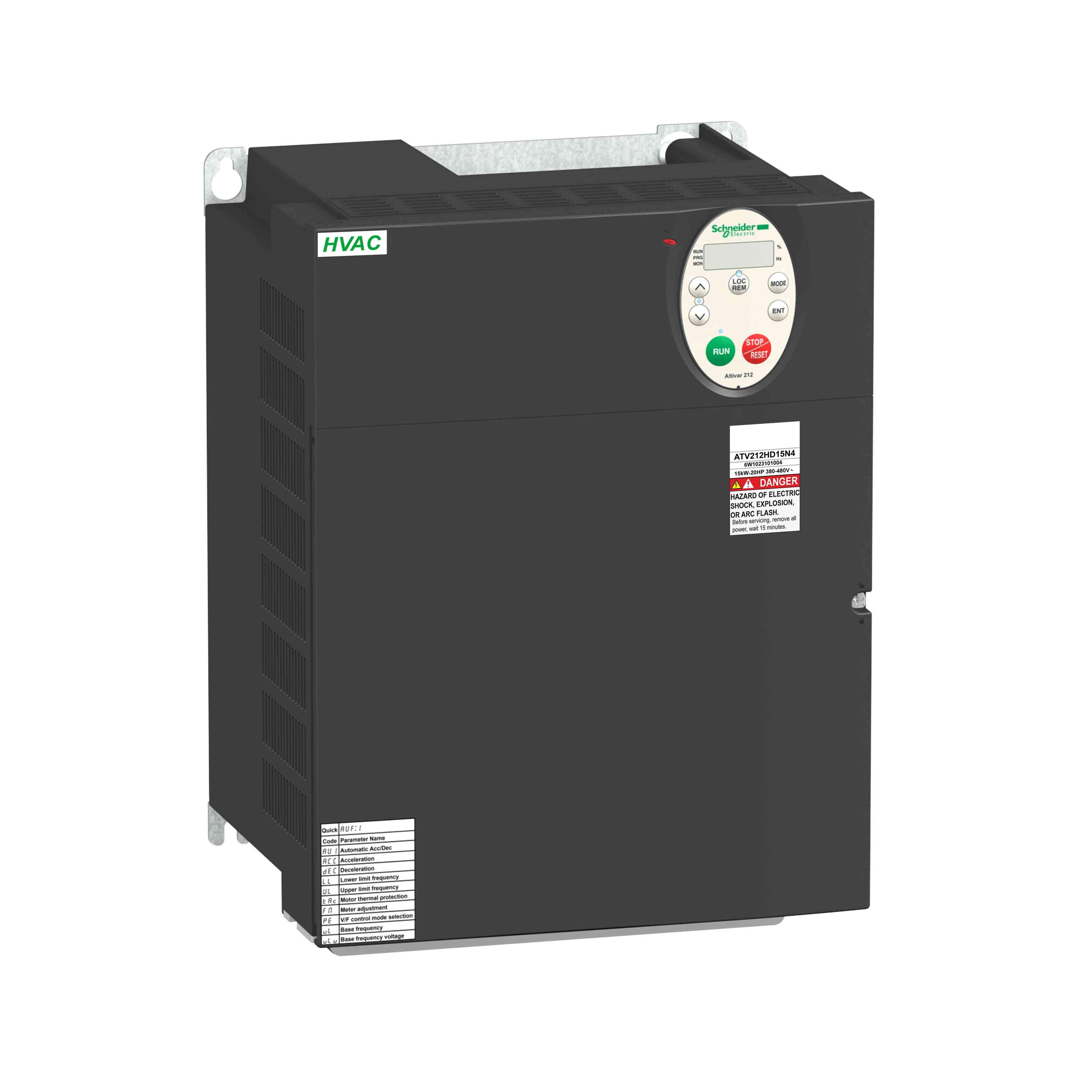 Pogon s sprem. hitr. ATV212 - 15 kW - 20 hp - 480 V - 3 f. - EMC - IP21