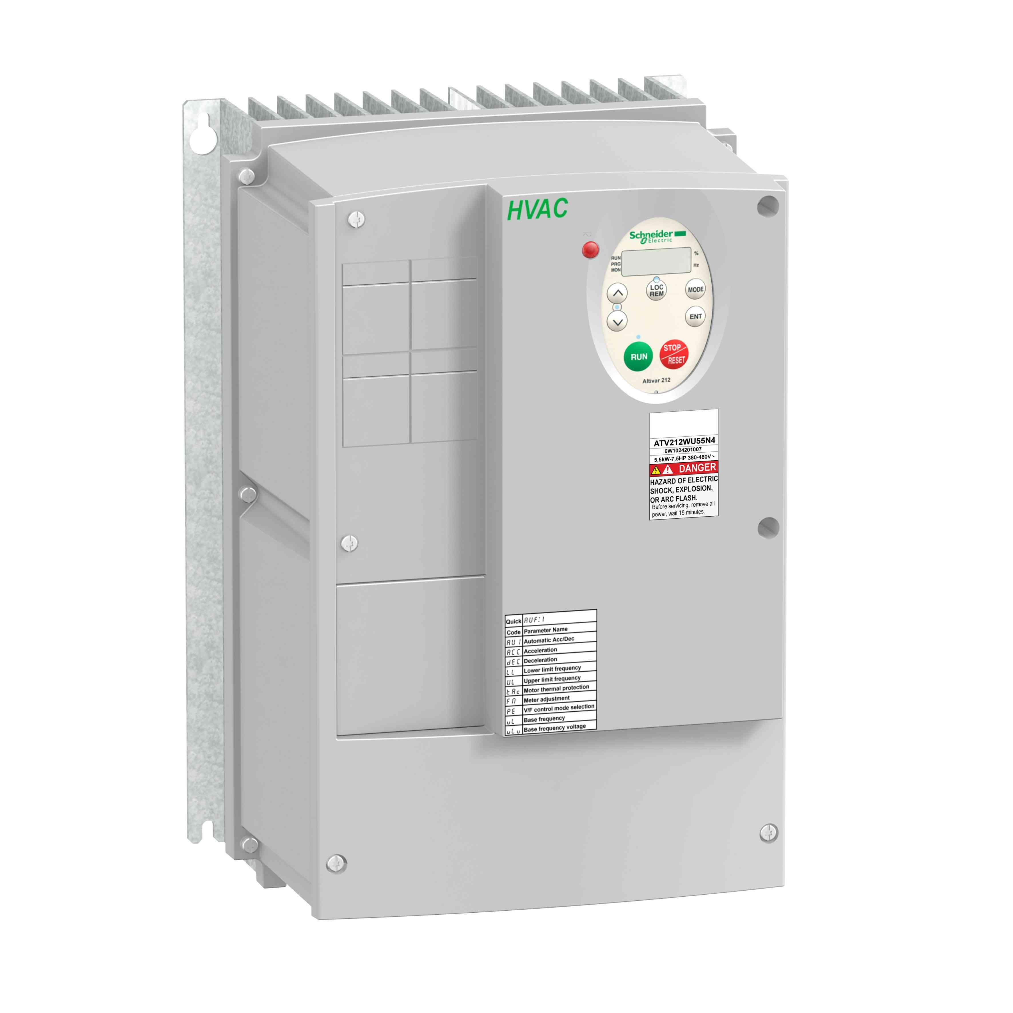 Pogon s sprem. hitr. ATV212 - 3 kW - 480 V - 3 f. - EMC razred C1 - IP55