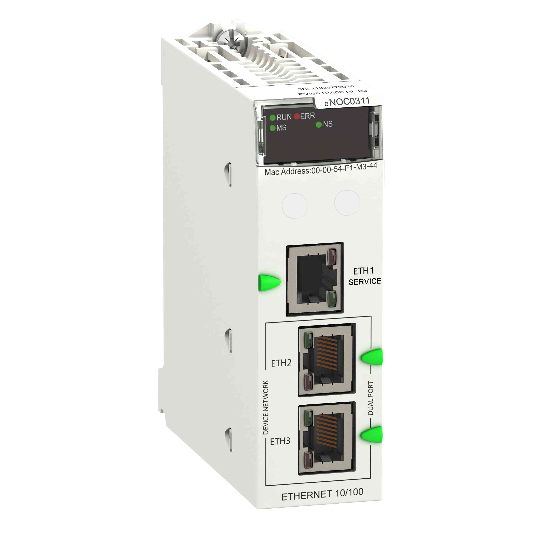 Ethernetni modul M580 - Ethernetna komunikacija s 3 vhodi FactoryCast