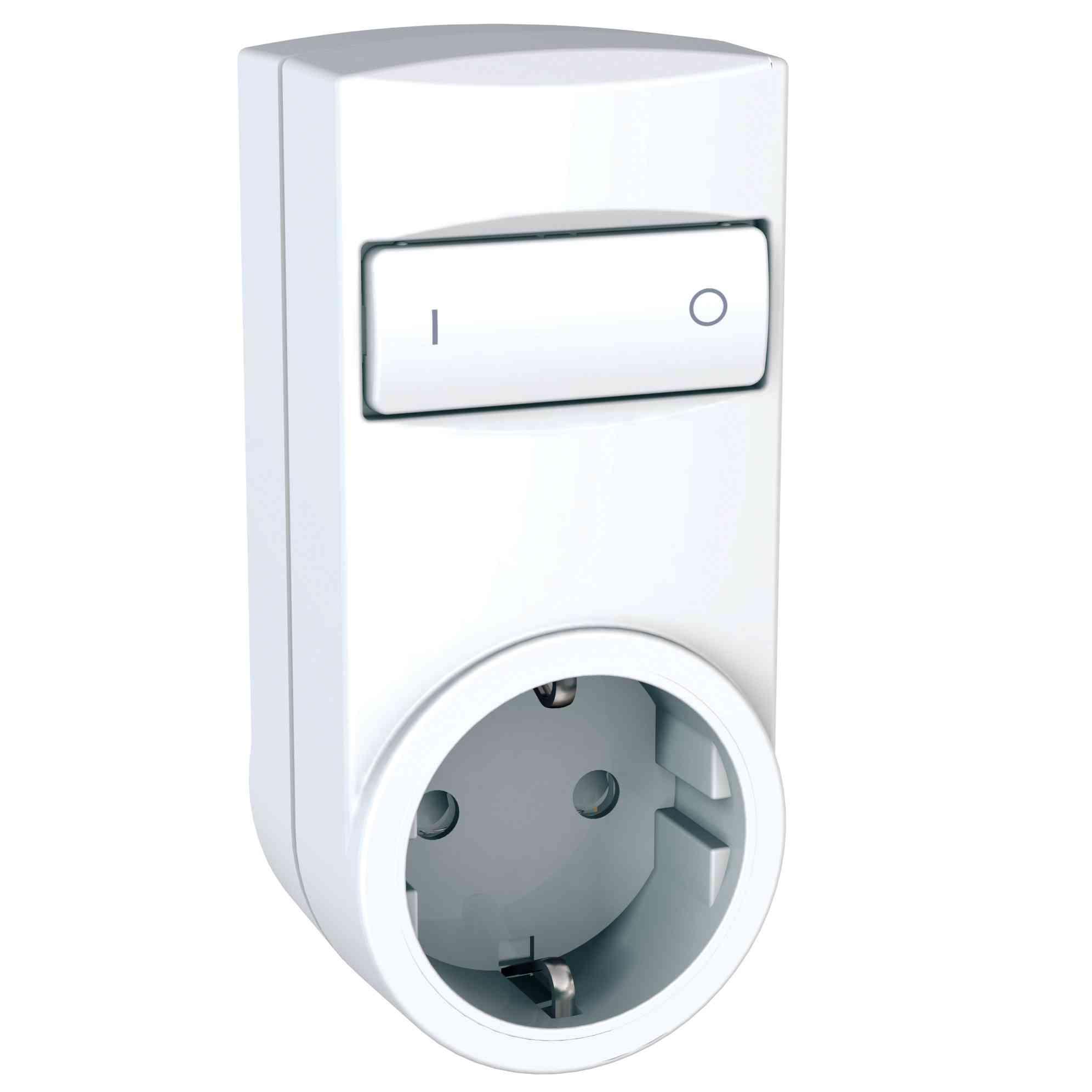 Odace/Unica Wireless - rele mobilne vtičnice - 2P+E, DE - 230 V AC - bel
