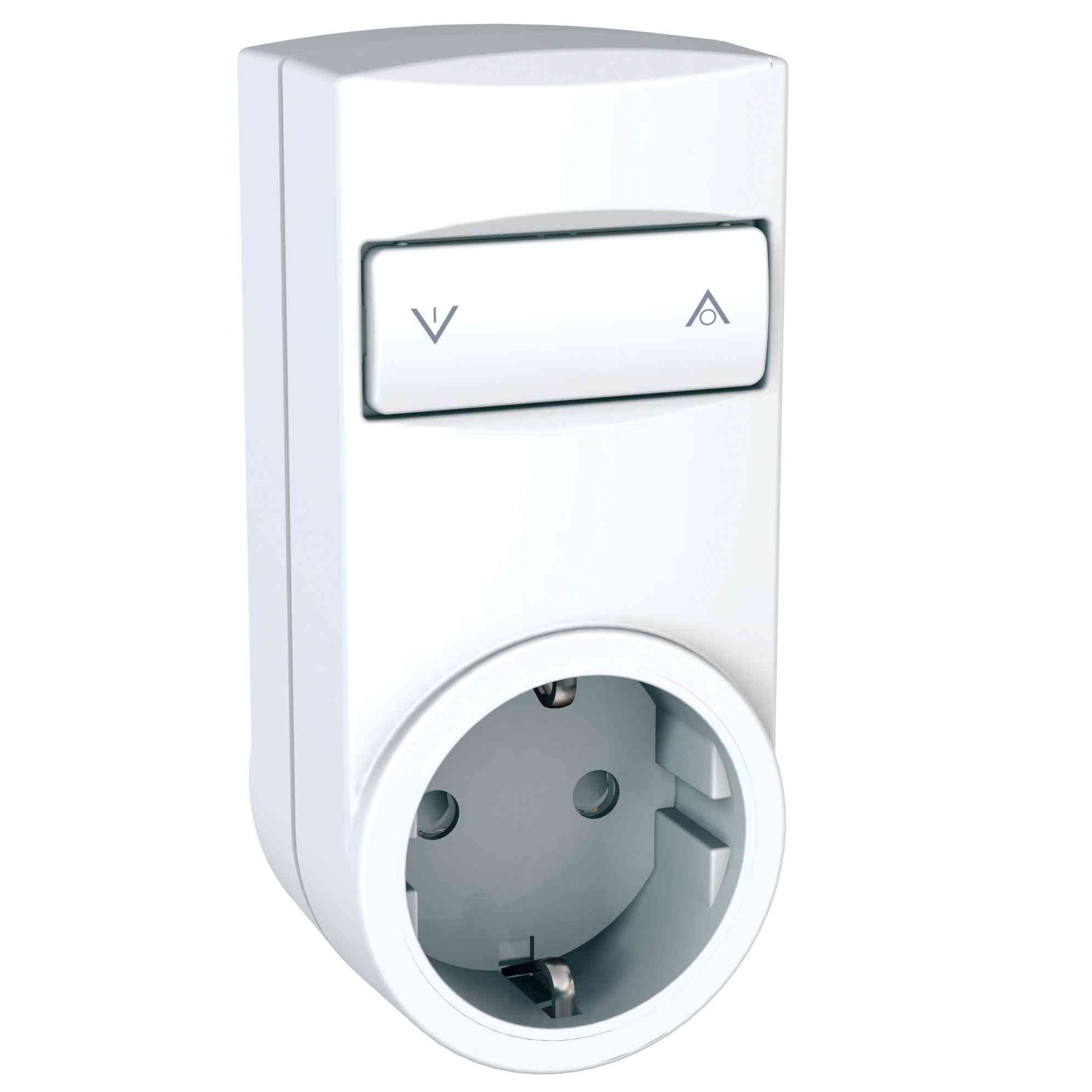 Odace/Unica Wireless - mobilni zatemnilnik z vtičnico - 2P+E, DE - 230 VAC - bel