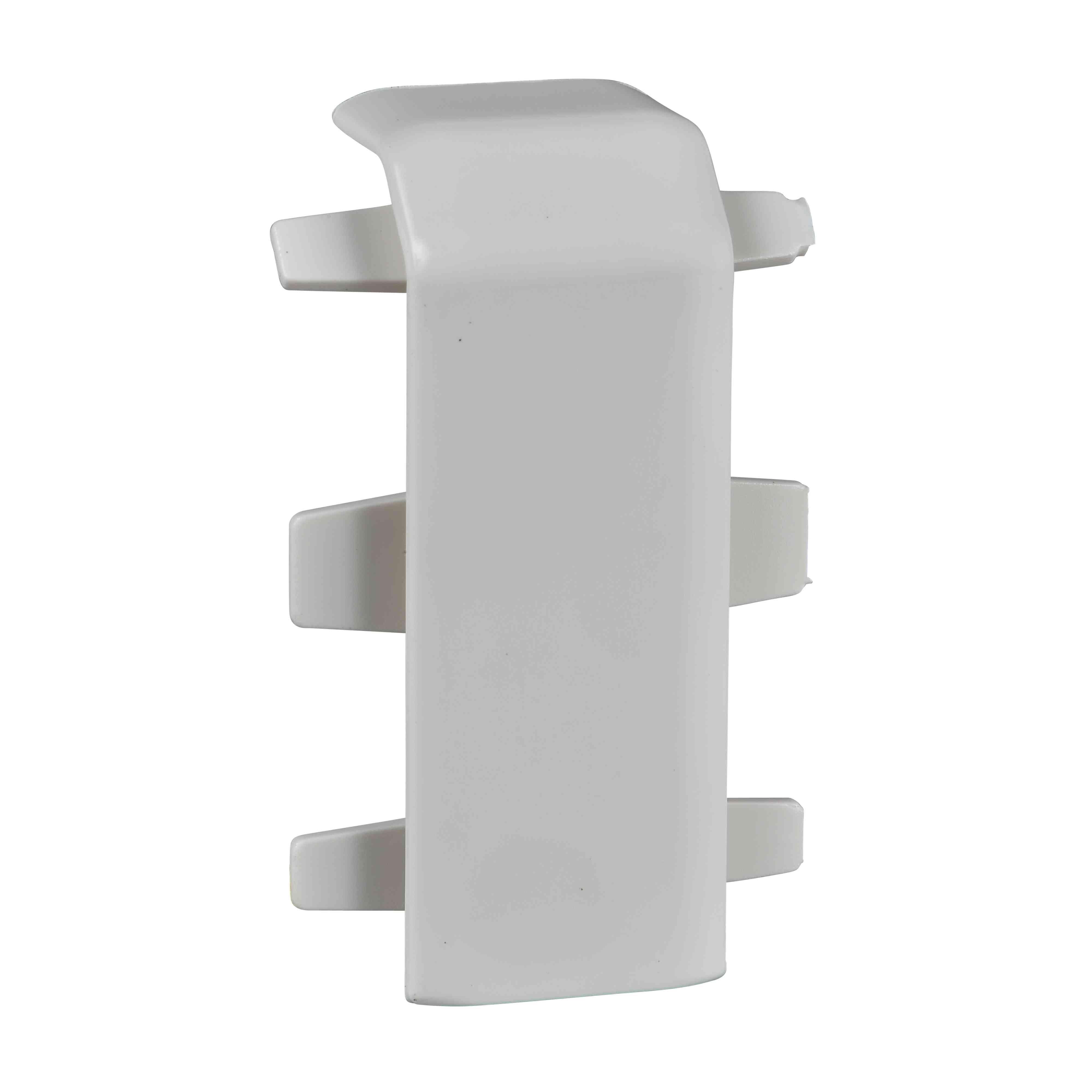 Ultra - spojni pokrovni del - 101 x 34/50 mm - ABS - bel