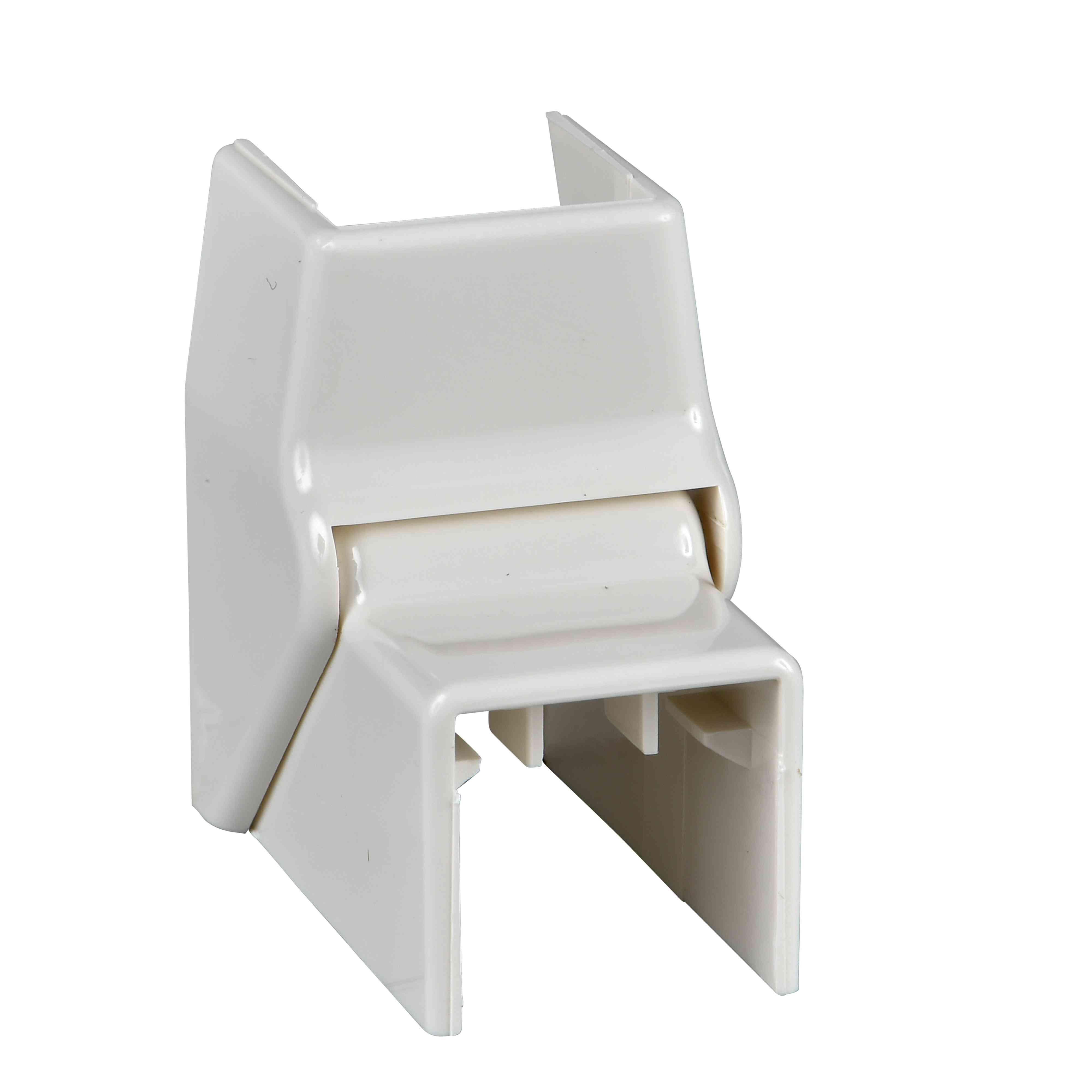 Ultra - prilagodljiv notranji kot - 16 x 16 mm - ABS - bel