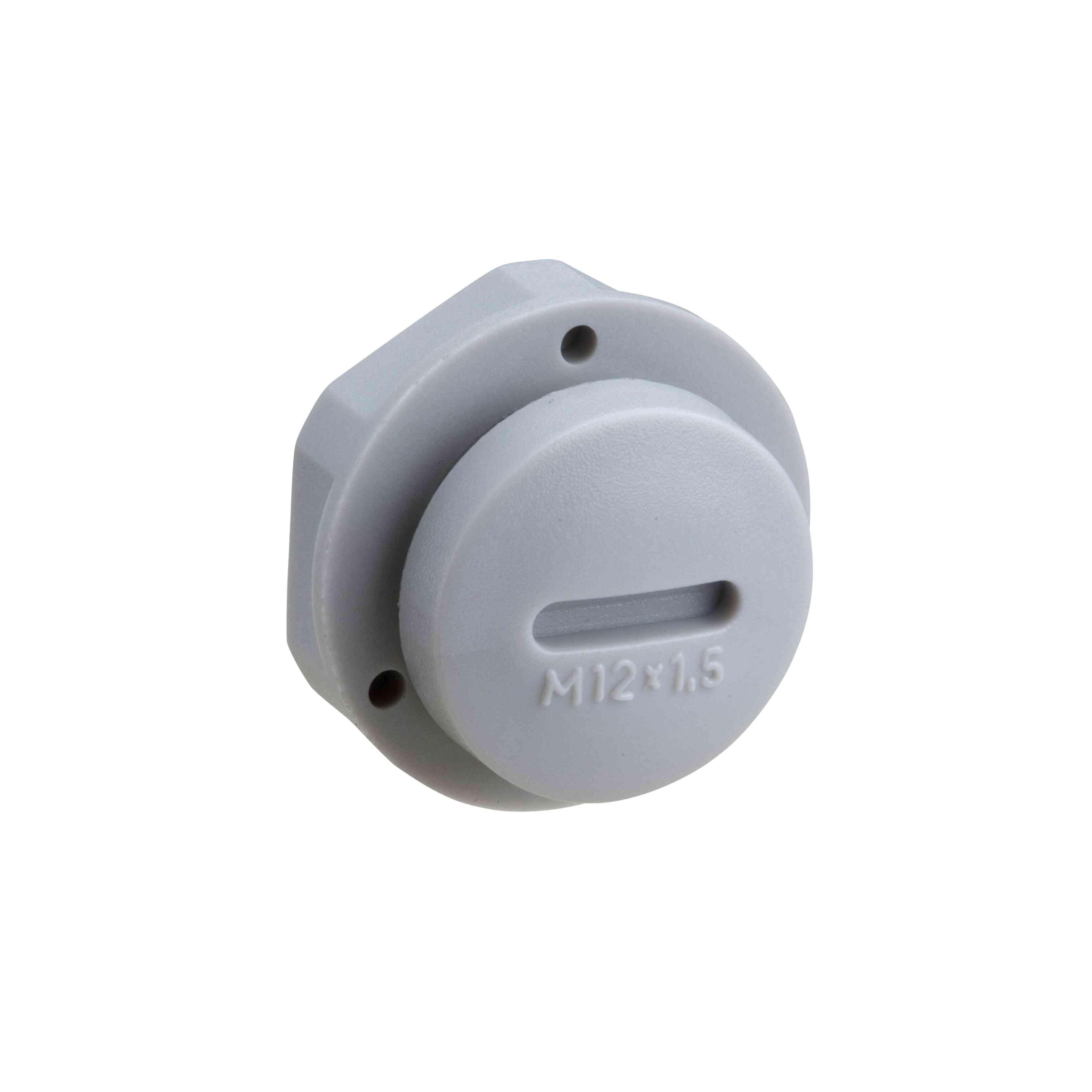 Mureva BOX - pokrivni vtič - siv - M12